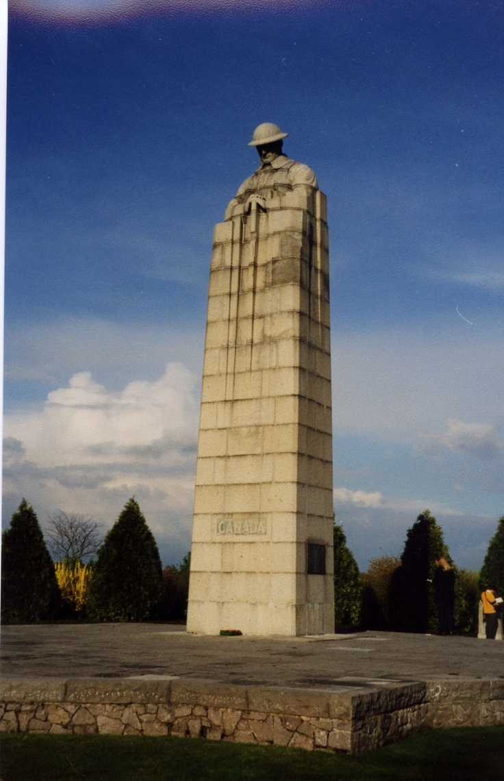 Canadian Memorial in St. Julien, Belgium where the Canadian soldiers were the victims of the first use of chemical weapons by the Germans in WW1.