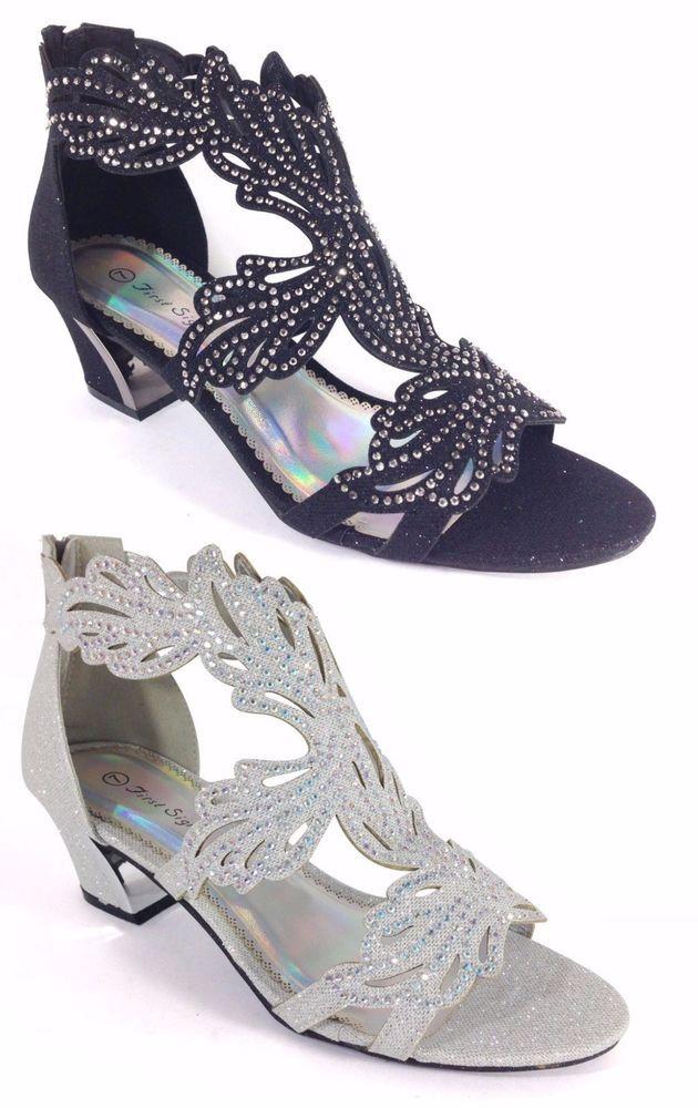Women Evening Dress Shoes Rhinestones High Heels Platform Wedding