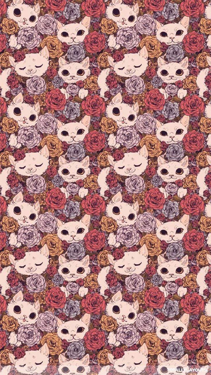 Vintage floral iphone wallpaper tumblr - Gallery For Cats Wallpaper