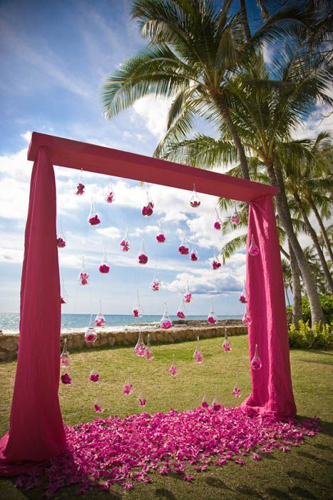 Chic Pinks from Yvonne Design » Modern Weddings Hawaii Destination Bride Inspiration Hawaii Wedding Vendors