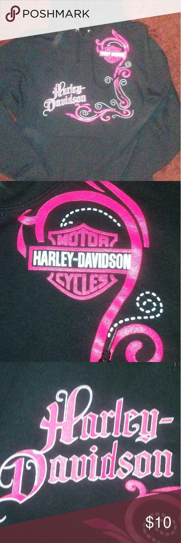 Harley Davidson pull over sweat shirt Very comfortable pull over Harley sweat shirt Jerzee Tops Sweatshirts & Hoodies