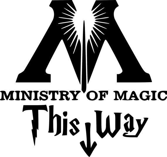 Harry Potter decal sticker This way in to the Ministry of Magic tolet walls door