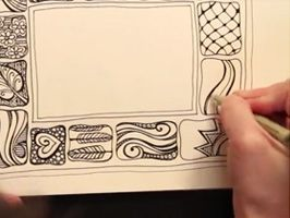 lots of videos for borders, doodles and techniques