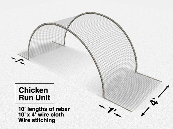 """They are constructed with half-inch grid wire cloth (48"""" wide) stitched with wire onto a series of hand-curved ten-foot long rebar hoops."""