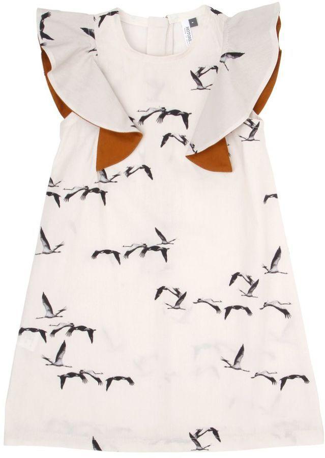Manuela Bird Printed Cotton Poplin Dress