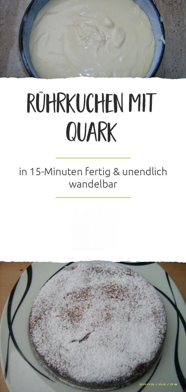 Rührkuchen mit Quark – Rezepte mit Quark