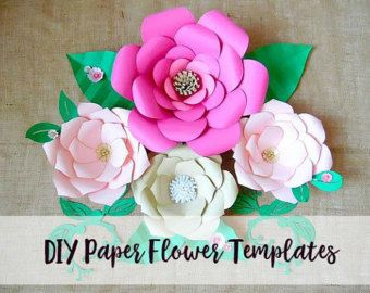 Giant Paper Flower Templates & Tutorials by CatchingColorFlies