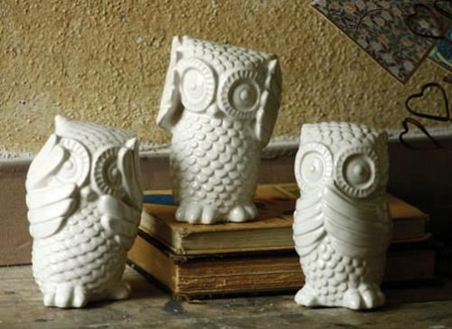 61 best images about for the home on pinterest kitchenware joss and main and owl - Hear no evil owls ceramic ...