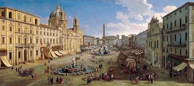Gaspar Van Wittel, Piazza Navona, 1699