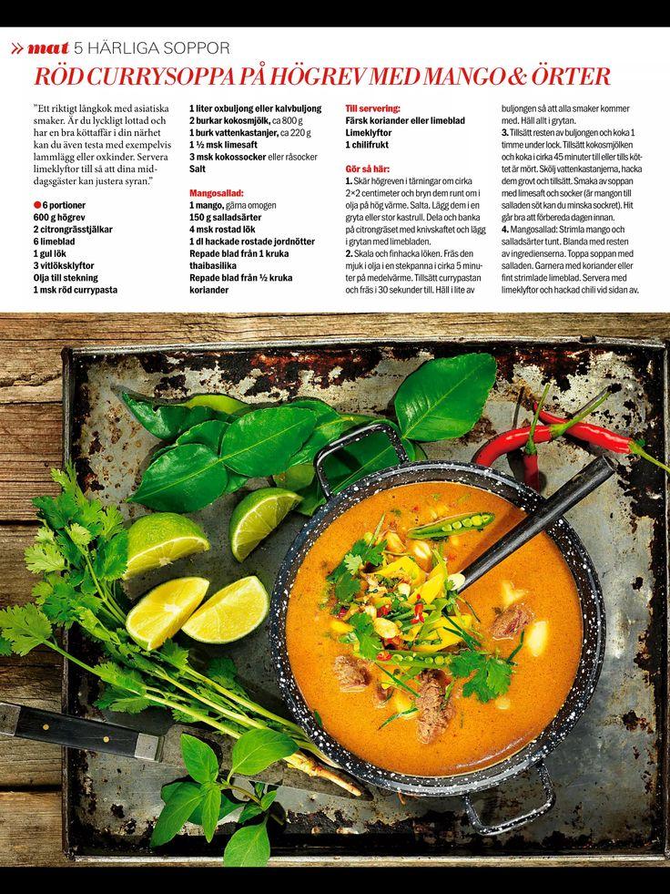 Röd currysoppa på högrev