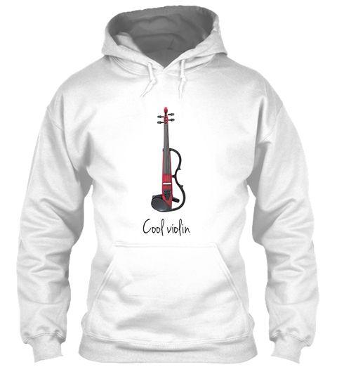 Cool Violin  White Sweatshirt Front