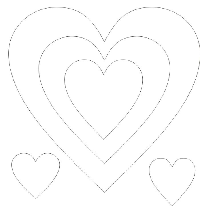 Free coloring pages of heart shape