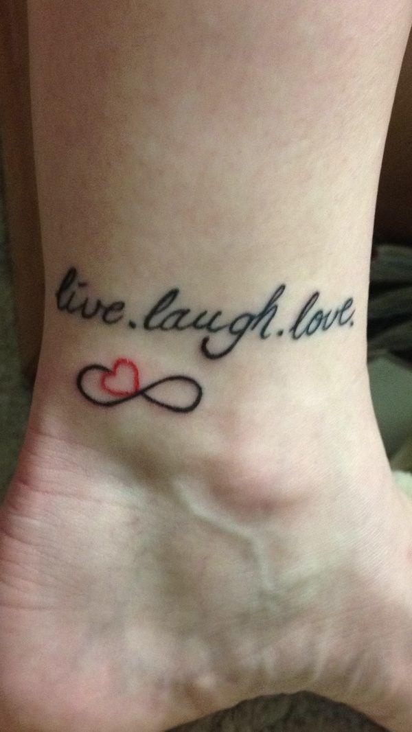 Live, Laugh, Love tattoo | Girlie Tattoos | Pinterest