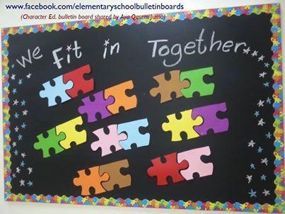 Puzzle bulletin board