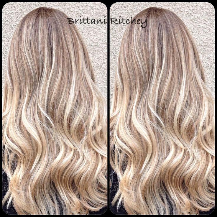 Blonde highlights, with warm lowlites