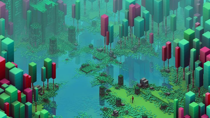 not really pixel art  but so beautiful   u0026quot the swamp dungeon