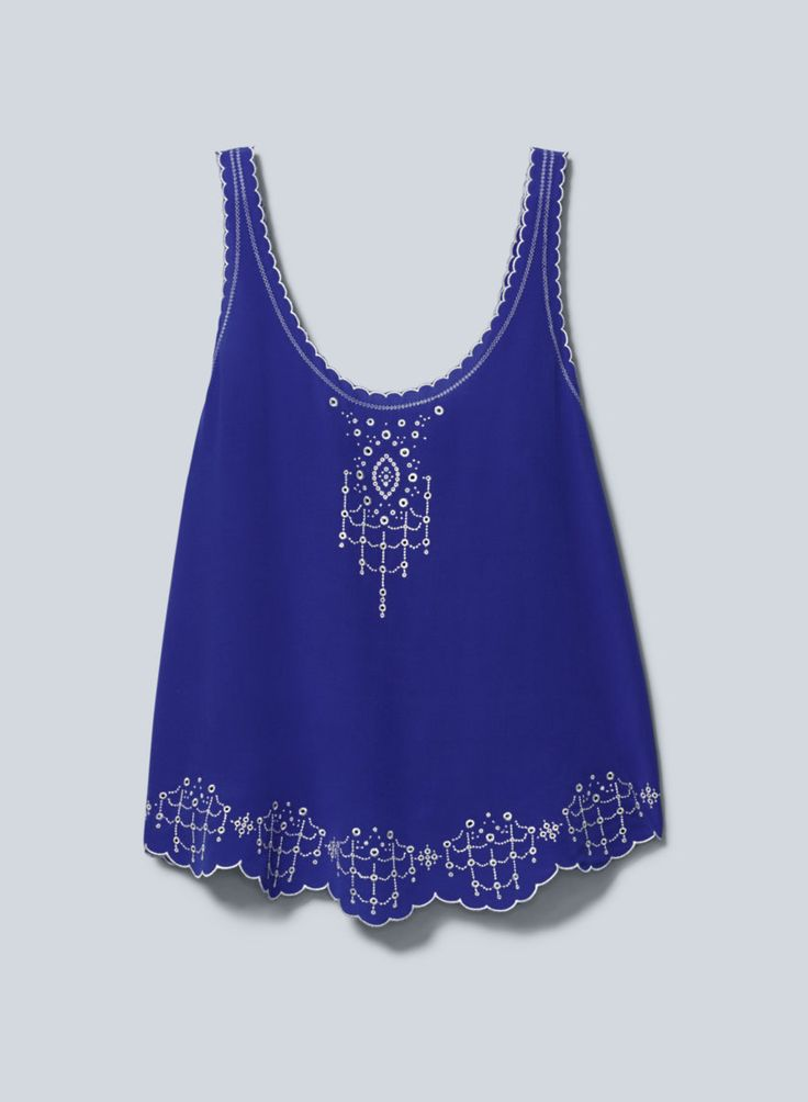 Blue Top With Cute Embellishments