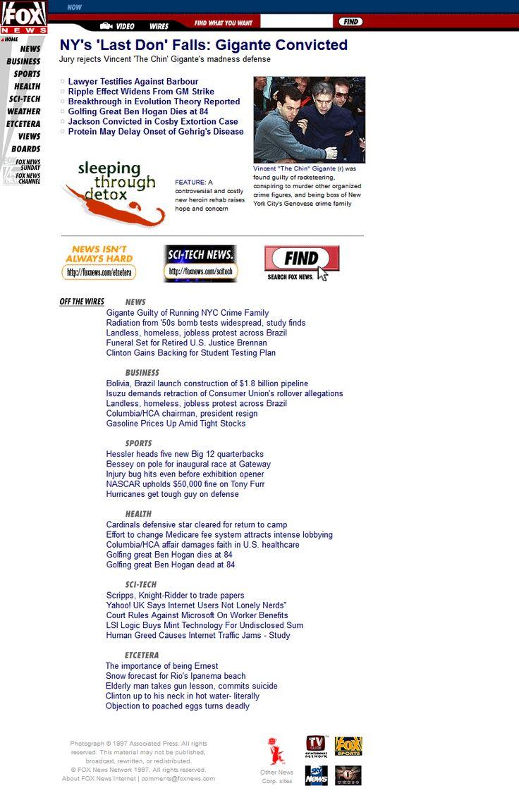Fox News Channel website in 1997