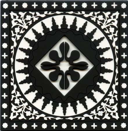 Images dOrient Black and White Mosaic Coasters Set of 6 - Yuppiechef