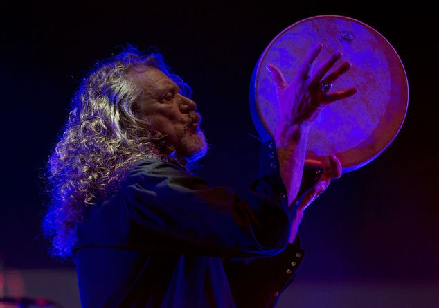 In this Saturday, March 14, 2015 photo, Robert Plant performs with The Sensational Space Shifters during the 16th edition of the Vive Latino music festival i...