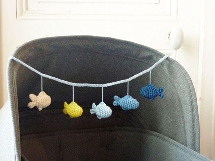 DIY-Anleitung: Kinderwagen-Mobilé mit Fischen häkeln via DaWanda.com