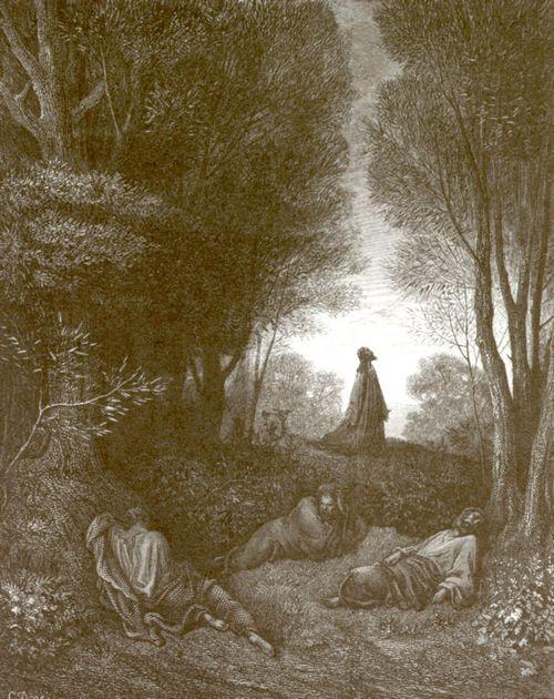 Doré, Gustave: Bibelillustrationen: Gebet Christi im Garten Gethsemane, um 1866