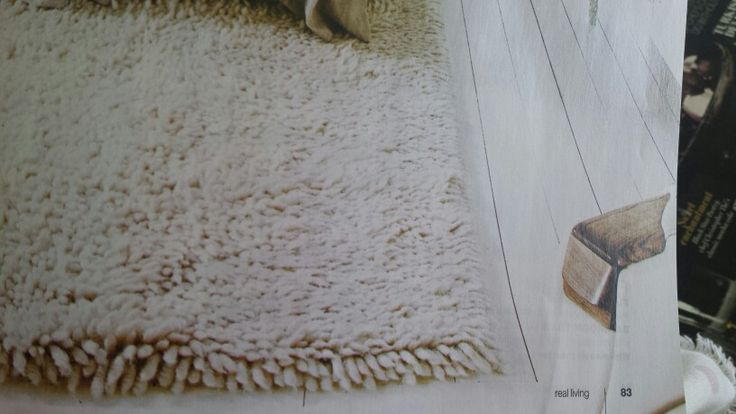 White textured shaggy rug can stay