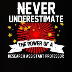 Never Underestimate A Research Assistant Professor Cool Job T Shirt
