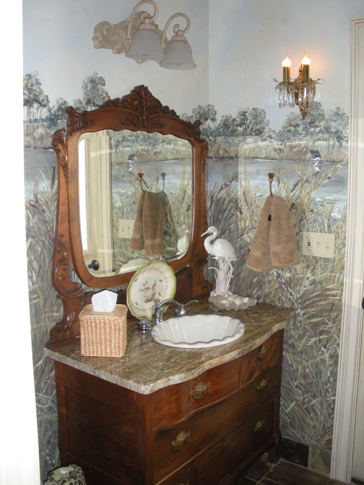Best Antiques Images On Pinterest Antique Dressers Bathroom - Dresser turned bathroom vanity for bathroom decor ideas