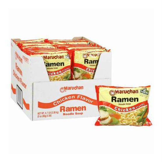 Maruchan Ramen Noodle Soup Chicken Flavor 3 oz. 36 pack - Add Hot Water #Ramen