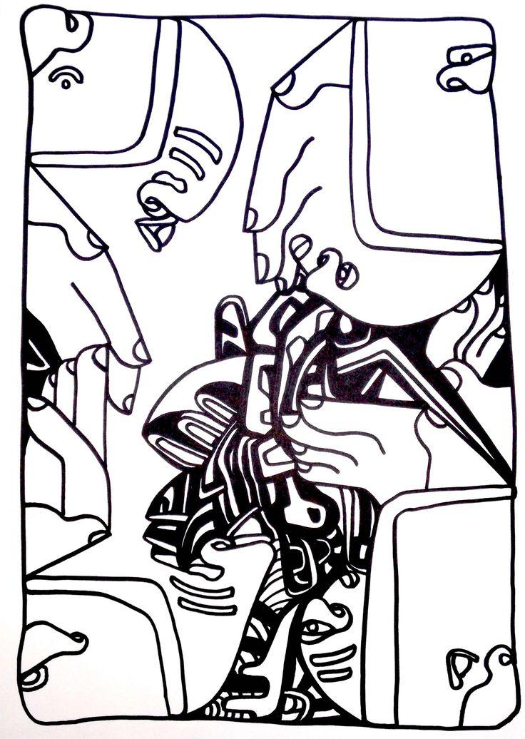 B/W Line Works by Sarah Buckley buckleynow.com