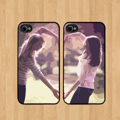 Girls Best Friends For iPhone 5 Case Soft Rubber - Set of Two Cases (Black or White ) SHIP FROM CA by Cases, http://www.amazon.com/dp/B00FL8THGY/ref=cm_sw_r_pi_dp_fwEvsb16XT3WR