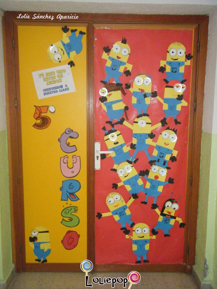Minions School Door / Decoración de la puerta de clase con el tema Minions