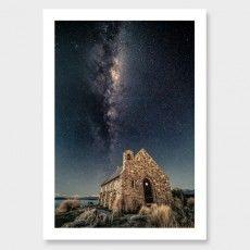 Stone to Stars –Tekapo Photographic Print by Mike Mackinven