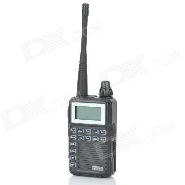 """""""RIKE RK-2R 1.2"""""""" LCD 2W 400~470MHz Handheld Multifunctional Walkie Talkie - Black"""". """"Brand RIKE Model RK-2R Color Black Material Plastic housing Quantity 1 Frequency Range 400~470MHz Power 2 W Channel 108 Working Voltage 3.7 V Working Distance 1000~3000 m Encryption CTCSS / DCS Battery Capacity 1500 mAh Features 1.2"""""""" LCD display; Chinese / English voice prompt; Voice scrambler; COMP function; Channel name editing; Dual watching function; VOX function; CTCSS / DCS scanning; Wide / Narrow…"""