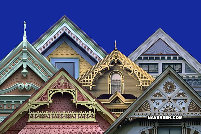 ah, lovely victorian gables.  must do this to our victorian home.