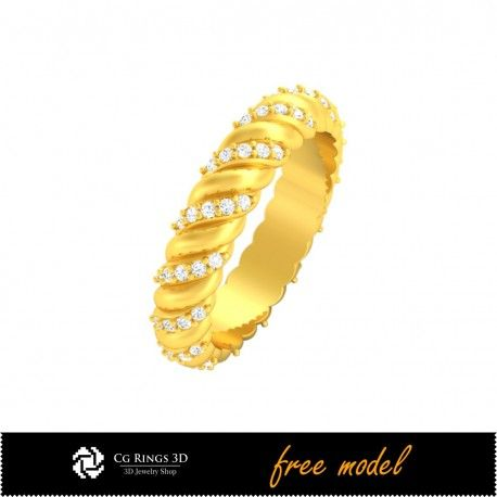 3D CAD Eternity Band Ring - Free 3D Model