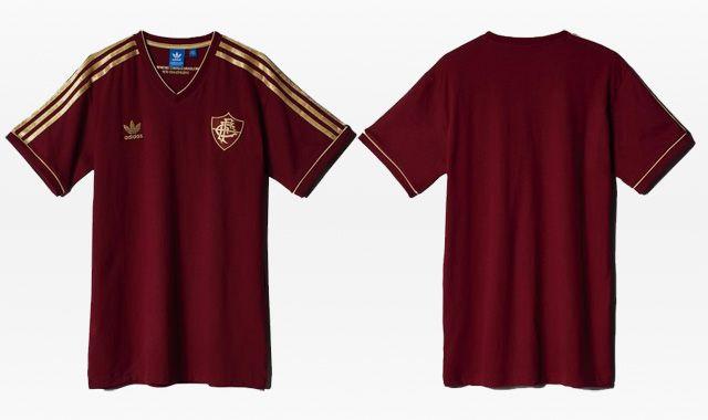 Camisa retrô grená do Fluminense 2015 Adidas Originals