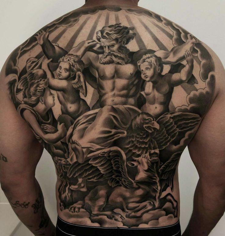 Tattoo done by: @juncha #tatuaje #angeltattoo #angel