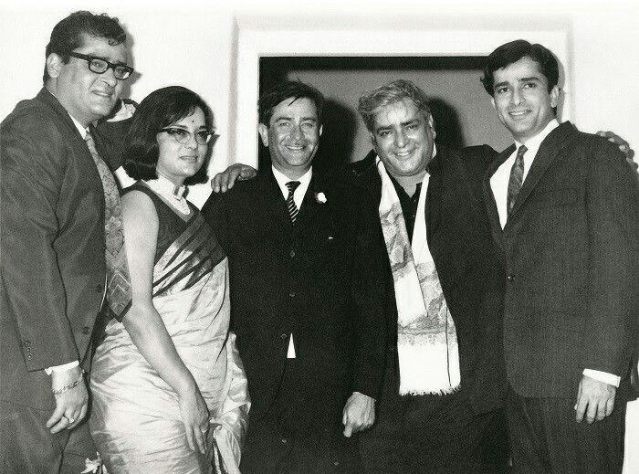 Shammi Kapoor, Raj Kapoor, Prithviraj Kapoor e Shashi Kapoor