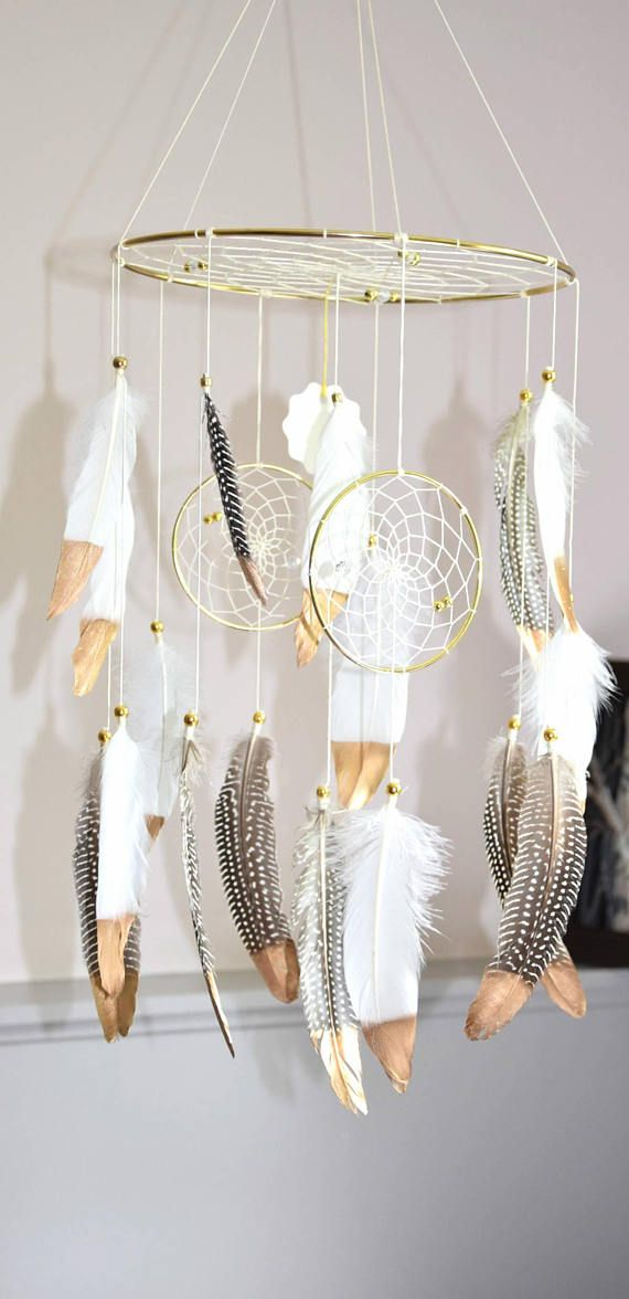 Baby Mobile Dream Catcher Mobile Boho Feather Mobile