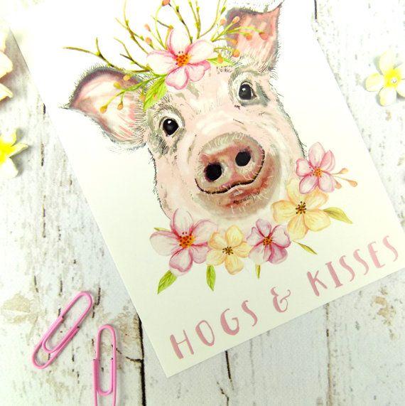 Pig Pun Postcard Cute Funny Pig Stationary