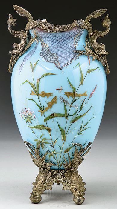@PinFantasy - Moser Vase ~~ For more: - ✯ http://www.pinterest.com/PinFantasy/arte-~-con-cristal-glass-art/