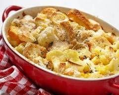 Gratin de pommes de terre au camembert