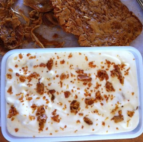 Mary Berry's ice cream with honeycomb chips