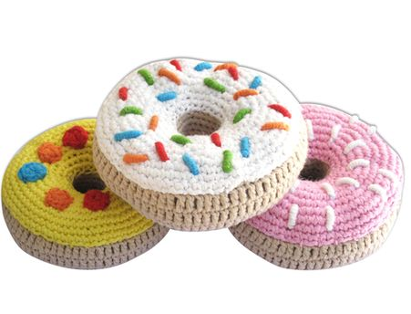 Donut Rattles for the baby with the sweet tooth! Your babe will use them later in their play kitchen! #pinparty #fisherprice