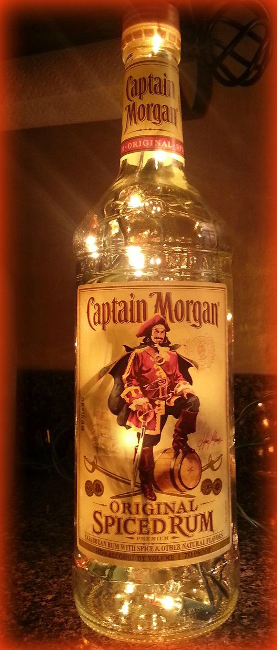 Captain Morgan lights the night by ChristineKellyDesign on Etsy, $10.00.  I can picture this on the bar, maybe in a party garage!