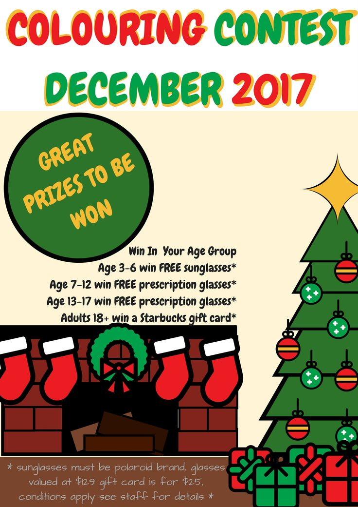 Visit our website and download the colouring book. All entries must be received by December 31, 2017