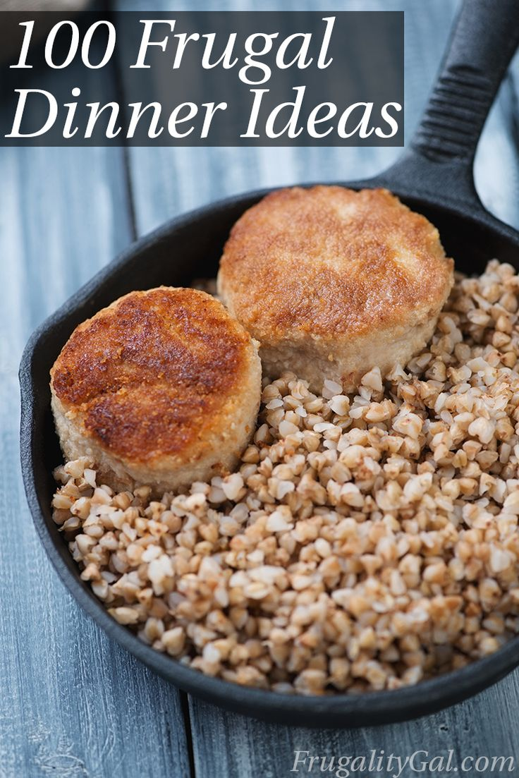 Frugal dinner ideas -- you have a huge variety of simple meals here!!