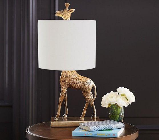 Emily & Meritt Giraffe Complete Lamp | Pottery Barn Kids